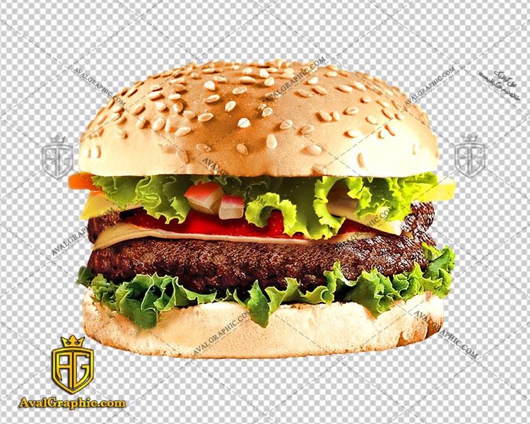 png همبرگر خوشمزه