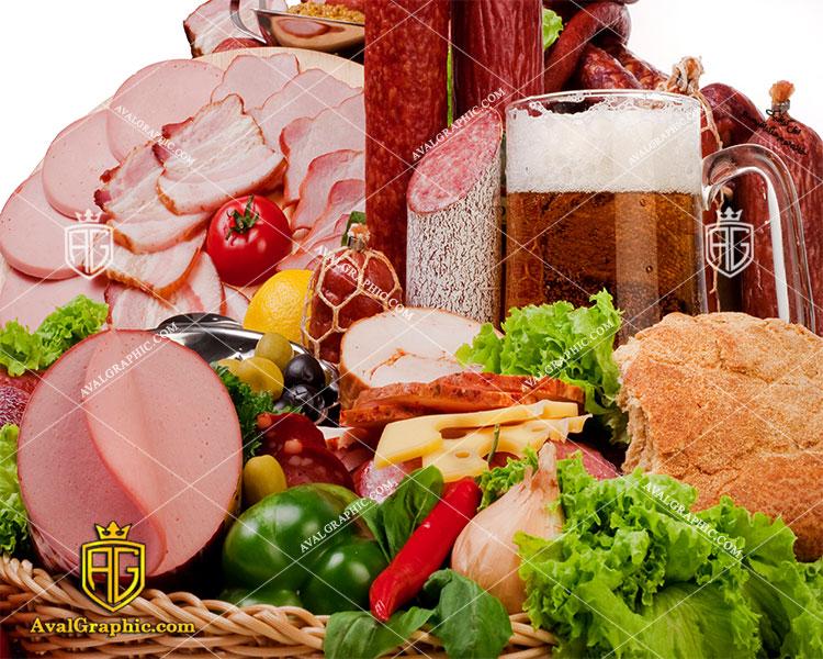 شاتر استوک رایگان کالباس با سبزیجات