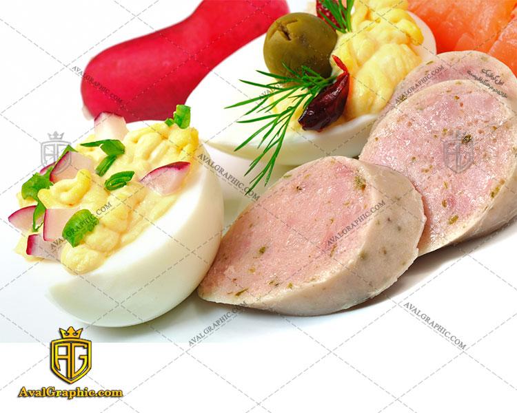 شاتر استوک رایگان سوسیس تخم مرغ