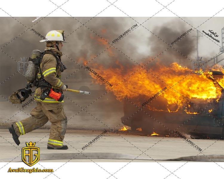 عکس با کیفیت آتش نشان فعال مناسب برای طراحی و چاپ - عکس آتش - تصویر آتش - شاتر استوک آتش - شاتراستوک آتش