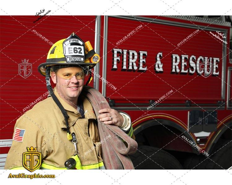 عکس با کیفیت آتش نشان مهربان مناسب برای طراحی و چاپ - عکس آتش نشان - تصویر آتش نشان - شاتر استوک آتش نشان - شاتراستوک آتش نشان