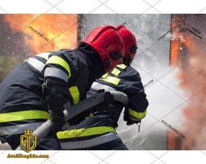 عکس با کیفیت آتش نشانان تلاشگر مناسب برای طراحی و چاپ - عکس آتش نشان - تصویر آتش نشان - شاتر استوک آتش نشان - شاتراستوک آتش نشان