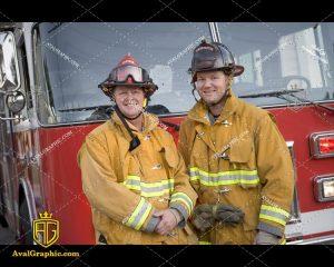 عکس با کیفیت آتش نشانان آماده مناسب برای طراحی و چاپ - عکس آتش نشان - تصویر آتش نشان - شاتر استوک آتش نشان - شاتراستوک آتش نشان