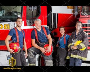 عکس با کیفیت آتش نشانان خندان مناسب برای طراحی و چاپ - عکس آتش نشان - تصویر آتش نشان - شاتر استوک آتش نشان - شاتراستوک آتش نشان