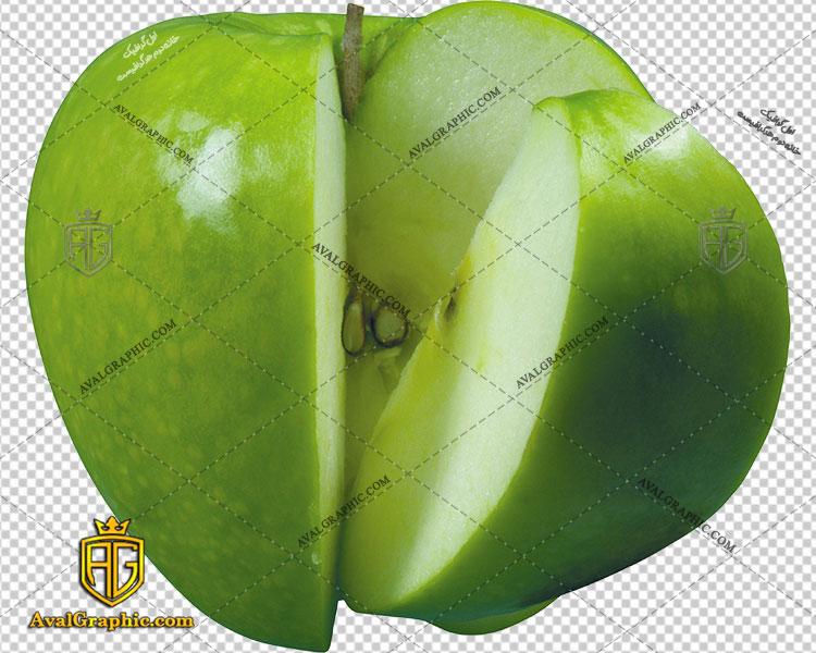 png سیب ترش قاچ شده