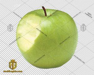 png سیب سبز گاز زده