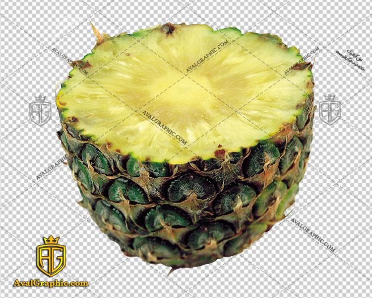 png آناناس نصف شده