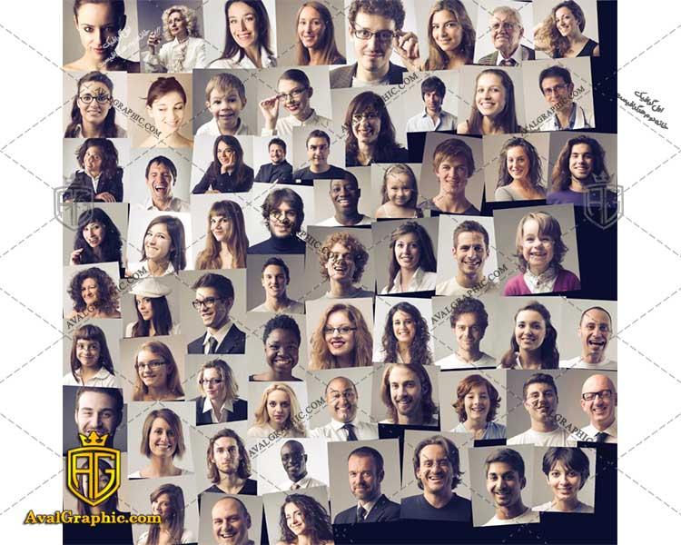 عکس با کیفیت چهره های گوناگون مناسب برای طراحی و چاپ - عکس چهره - تصویر چهره - شاتر استوک چهره - شاتراستوک چهره