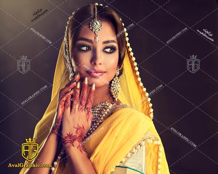 عکس با کیفیت خانم هندی مناسب برای طراحی و چاپ - عکس خانم - تصویر خانم - شاتر استوک خانم - شاتراستوک خانم