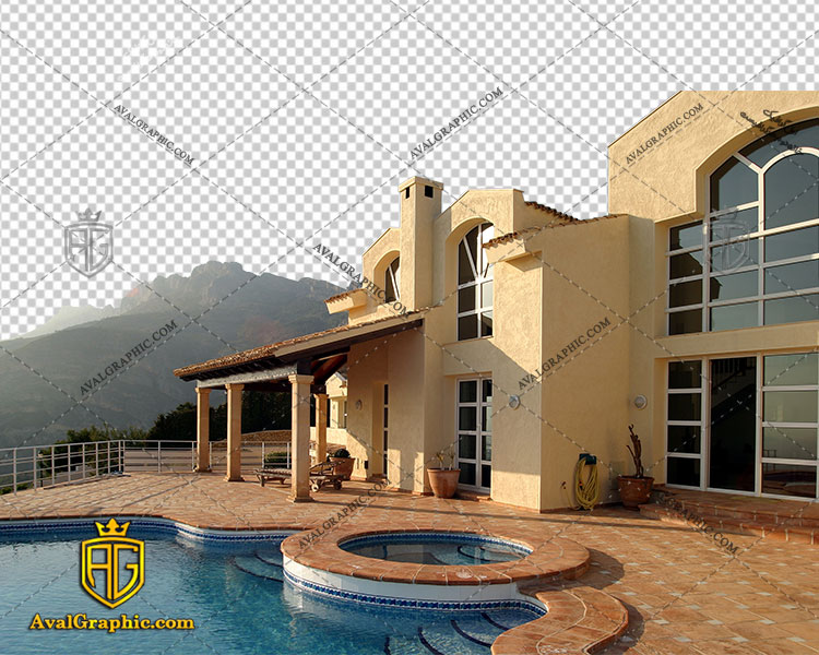 png ویلا بزرگ , پی ان جی ویلا , دوربری ویلا , عکس ویلا با زمینه شفاف, ویلا با فرمت png