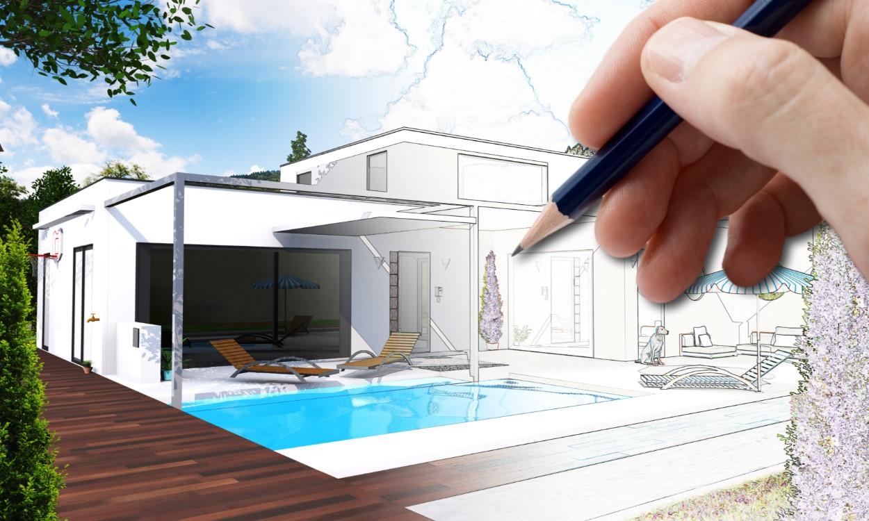 عکس با کیفیت خانه لوکس مناسب برای طراحی و چاپ - عکس مهندس - تصویر مهندس - شاتر استوک مهندس - شاتراستوک مهندس