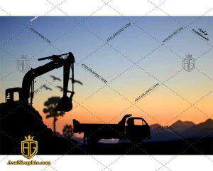 عکس با کیفیت ماشین بیل مناسب برای طراحی و چاپ - عکس ماشین - تصویر ماشین - شاتر استوک ماشین - شاتراستوک ماشین