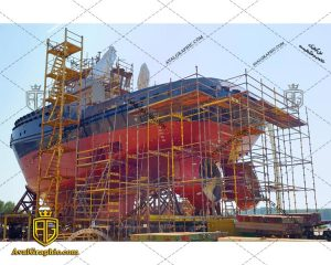 عکس با کیفیت ساخت کشتی مناسب برای طراحی و چاپ - عکس کشتی - تصویر کشتی - شاتر استوک کشتی - شاتراستوک کشتی