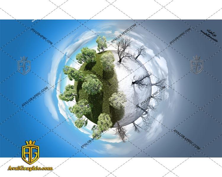 عکس با کیفیت سیاره دو فصل مناسب برای طراحی و چاپ - عکس سیاره - تصویر سیاره - شاتر استوک سیاره - شاتراستوک سیاره