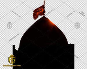 png پرچم گنبد پی ان جی محرم , دوربـری المـان محـرم , عکس امام حسین با زمینه شفاف, محرمی با فرمت png