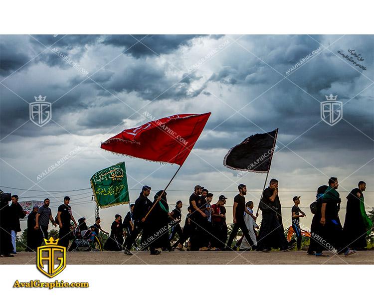عکس با کیفیت راهپیمایی اربعین حسینی مناسب برای طراحی و چاپ - عکس راهپیمایی اربعین- تصویر اربعین- شاتر استوک پیاده روی- شاتراستوک کربلا
