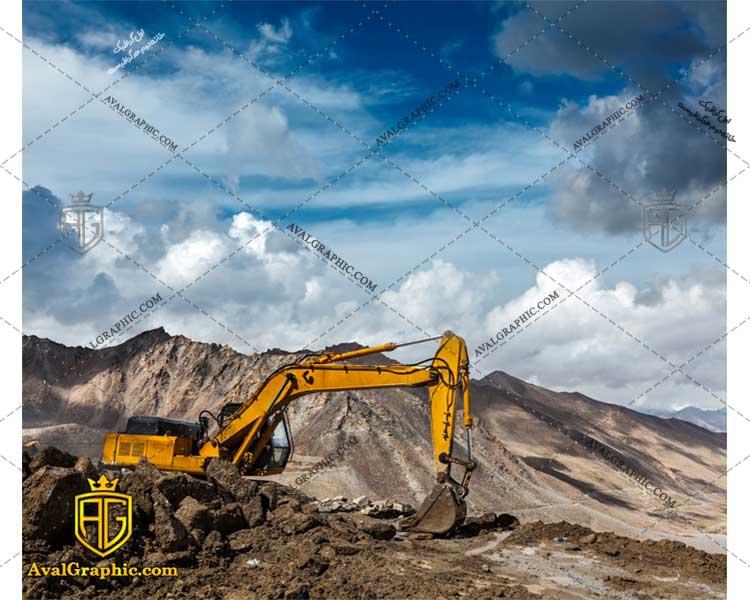 عکس با کیفیت عملیات خاک برداری مناسب برای طراحی و چاپ - عکس ماشین آلات - تصویر ماشین آلات - شاتر استوک ماشین آلات - شاتراستوک ماشین آلات