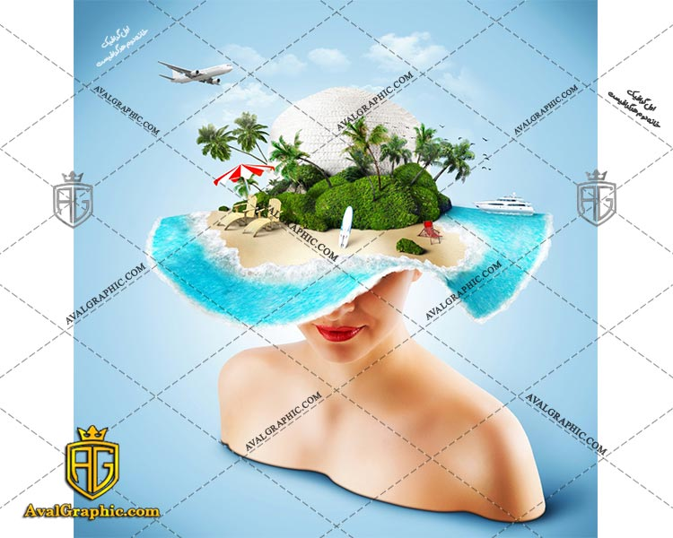 عکس با کیفیت کلاه جزیره مناسب برای طراحی و چاپ - عکس جزیره - تصویر جزیره - شاتر استوک جزیره - شاتراستوک جزیره