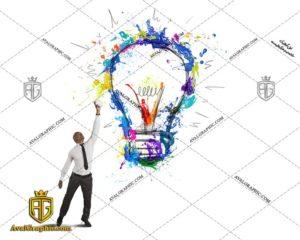 عکس با کیفیت لامپ آبرنگی مناسب برای طراحی و چاپ - عکس لامپ - تصویر لامپ - شاتر استوک لامپ - شاتراستوک لامپ