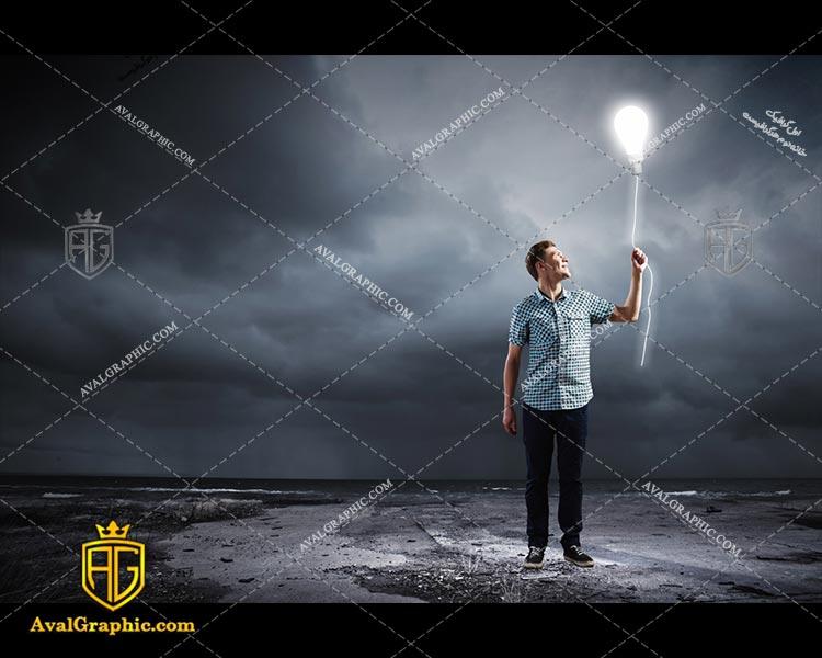 عکس با کیفیت لامپ بادکنک مناسب برای طراحی و چاپ - عکس لامپ - تصویر لامپ - شاتر استوک لامپ - شاتراستوک لامپ