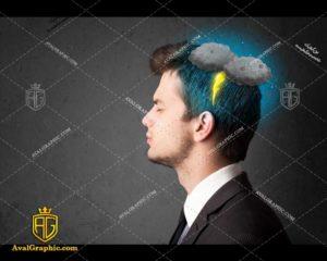 عکس با کیفیت مغز بارانی مناسب برای طراحی و چاپ - عکس مغز - تصویر مغز - شاتر استوک مغز - شاتراستوک مغز