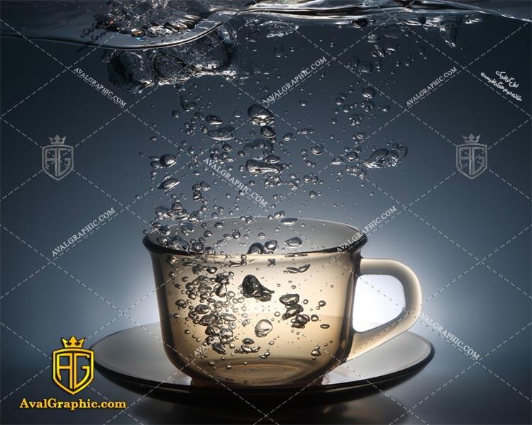 عکس با کیفیت فنجان شیشه ای مناسب برای طراحی و چاپ - عکس فنجان - تصویر فنجان - شاتر استوک فنجان - شاتراستوک فنجان