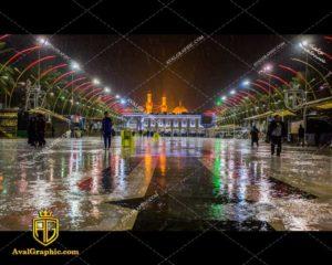 عکس با کیفیت باران بین الحرمین