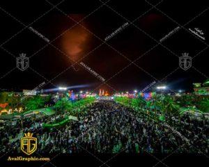عکس با کیفیت شب بین الحرمین مناسب برای طراحی و چاپ - عکس محرم - تصویر محرم - شاتر استوک محرم - شاتراستوک محرم