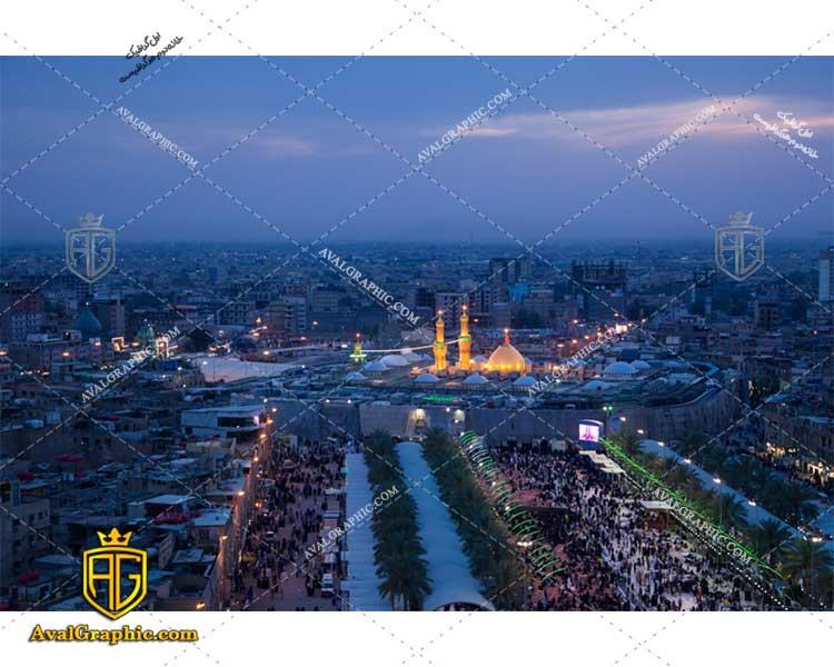 عکس با کیفیت تصویر هوایی بین الحرمین مناسب برای طراحی و چاپ - عکس محرم - تصویر محرم - شاتر استوک محرم - شاتراستوک محرم