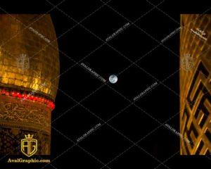 عکس با کیفیت ماه و گنبد مناسب برای طراحی و چاپ - عکس محرم - تصویر محرم - شاتر استوک محرم - شاتراستوک محرم