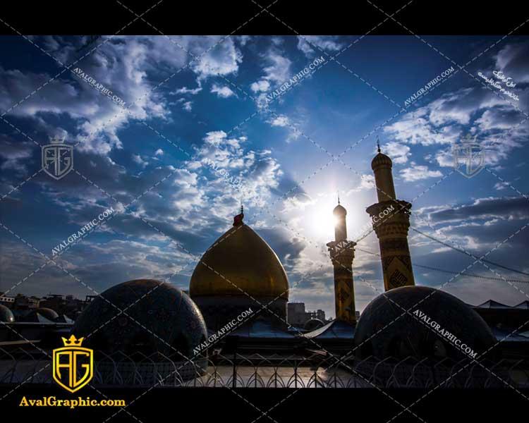 عکس با کیفیت بارگاه و مرقد حضرت عباس مناسب برای طراحی و چاپ - عکس محرم - تصویر محرم - شاتر استوک محرم - شاتراستوک محرم