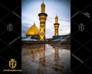 عکس با کیفیت باران در حرم حضرت عباس مناسب برای طراحی و چاپ - عکس محرم - تصویر محرم - شاتر استوک محرم - شاتراستوک محرم