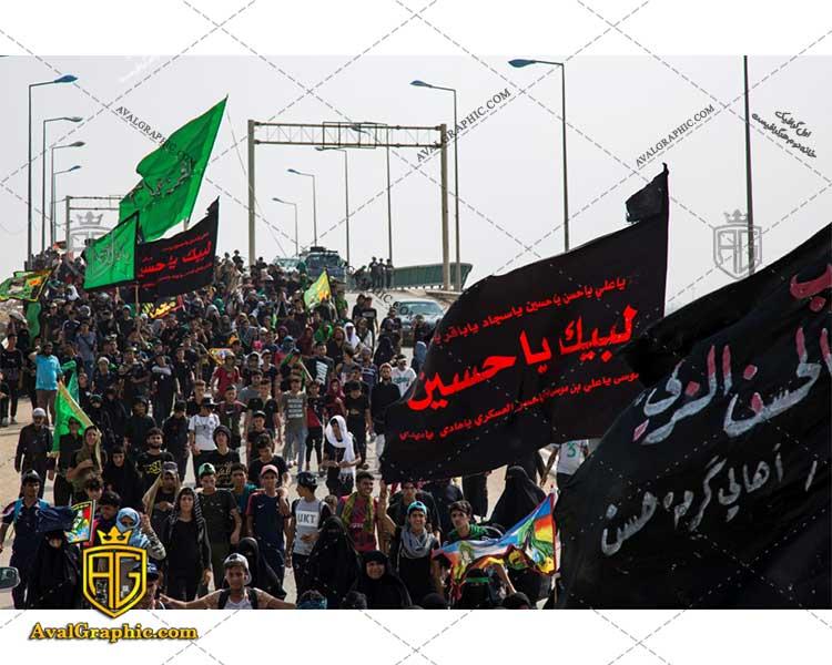 عکس پرچم لبیک یا حسین رایگان مناسب برای چاپ و طراحی با رزو 300 - شاتر استوک پیاده روی- عکس با کیفیت پیاده روی- تصویر پیاده روی