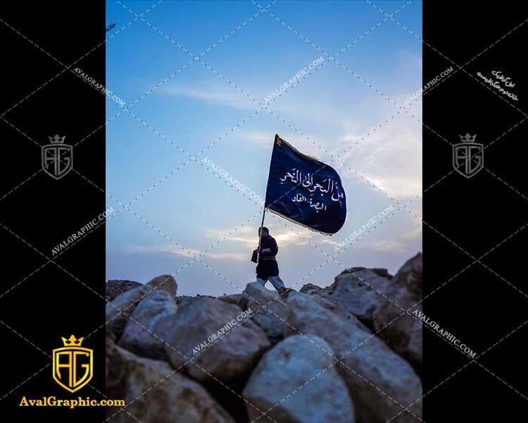 عکس با کیفیت پرچم سیاه و عابر پیاده مناسب برای طراحی و چاپ - عکس پیاده روی - تصویر پیاده روی - شاتر استوک پیاده روی - شاتراستوک پیاده روی