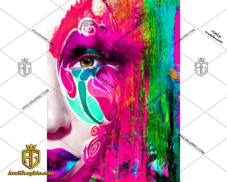 عکس با کیفیت صورت بنفش مناسب برای طراحی و چاپ - عکس صورت - تصویر صورت - شاتر استوک صورت - شاتراستوک صورت