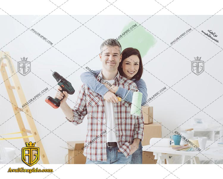 عکس با کیفیت زوج تعمیرکار مناسب برای طراحی و چاپ - عکس تعمیرکار - تصویر تعمیرکار - شاتر استوک تعمیرکار - شاتراستوک تعمیرکار