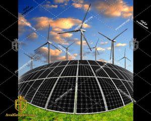 عکس با کیفیت پنل خورشیدی هلالی مناسب برای طراحی و چاپ - عکس پنل خورشیدی - تصویر پنل خورشیدی - شاتر استوک پنل خورشیدی - شاتراستوک پنل خورشیدی