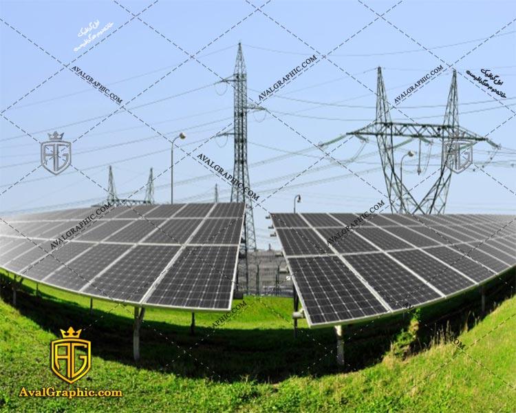 عکس با کیفیت پنل خورشیدی صنعتی مناسب برای طراحی و چاپ - عکس خورشید - تصویر خورشید - شاتر استوک خورشید - شاتراستوک خورشید