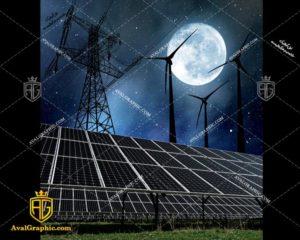 عکس با کیفیت پنل خورشیدی خاموش مناسب برای طراحی و چاپ - عکس پنل - تصویر پنل - شاتر استوک پنل - شاتراستوک پنل