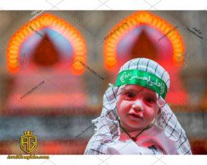 عکس با کیفیت کودک و سربند یا علی اصغر مناسب برای طراحی و چاپ - عکس شام غریبان - تصویر شام غریبان- شاتر استوک شام غریبان- شاتراستوک شام غریبان