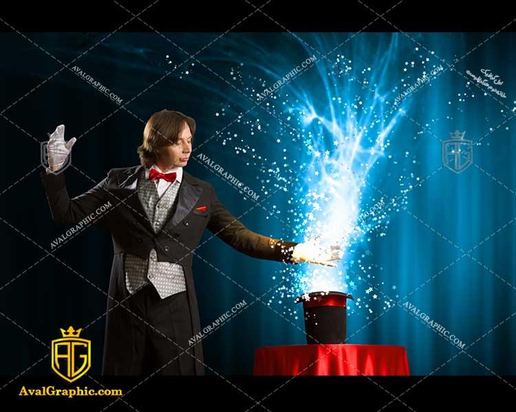 عکس با کیفیت شعبده باز ماهر مناسب برای طراحی و چاپ - عکس شعبده باز- تصویر شعبده باز- شاتر استوک شعبده باز شاتراستوک شعبده باز