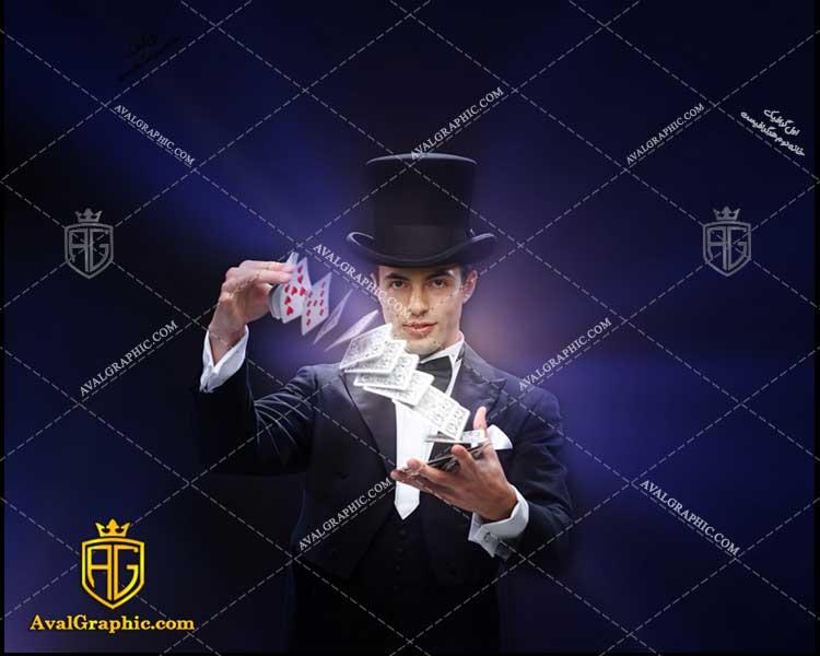 عکس با کیفیت شعبده بازی با پاسور مناسب برای طراحی و چاپ - عکس شعبده باز- تصویر شعبده باز- شاتر استوک شعبده باز شاتراستوک شعبده باز