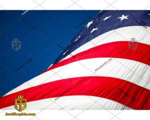 عکس با کیفیت پرچم برافراشته آمریکا مناسب برای طراحی و چاپ - عکس پرچم - تصویر پرچم - شاتر استوک پرچم - شاتراستوک پرچم