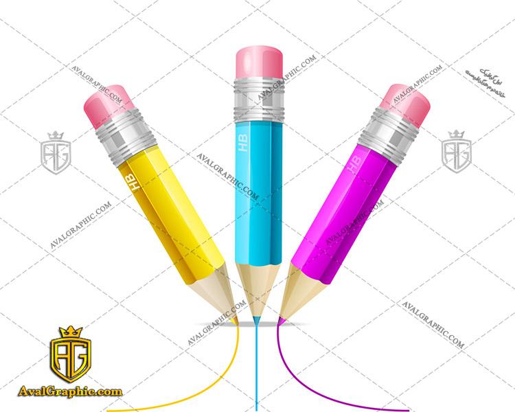 عکس با کیفیت مداد رنگی مناسب برای طراحی و چاپ - عکس مداد - تصویر مداد - شاتر استوک مداد - شاتراستوک مداد