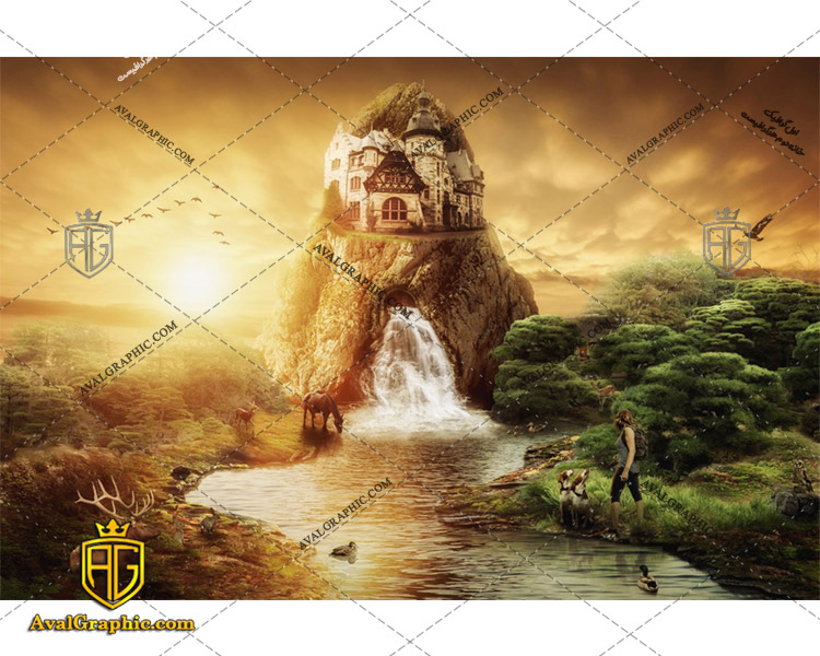 عکس با کیفیت قلعه سنگی مناسب برای طراحی و چاپ - عکس قلعه - تصویر قلعه - شاتر استوک قلعه - شاتراستوک قلعه