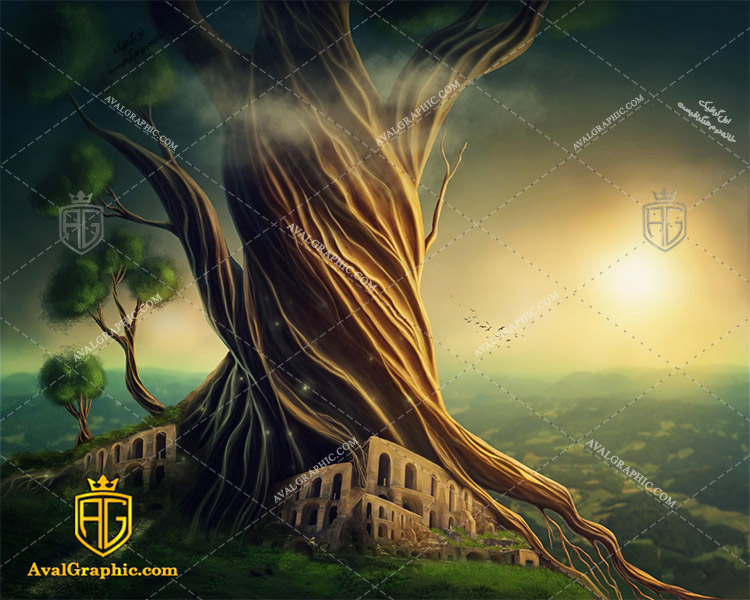 عکس بنای درختی رایگان مناسب برای چاپ و طراحی با رزو 300 - شاتر استوک بنا - عکس با کیفیت بنا - تصویر بنا - شاتراستوک بنا