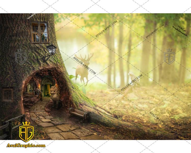 عکس با کیفیت خانه درختی مناسب برای طراحی و چاپ - عکس خانه - تصویر خانه - شاتر استوک خانه - شاتراستوک خانه