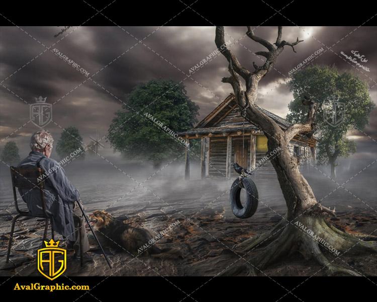 عکس با کیفیت کلبه متروک مناسب برای طراحی و چاپ - عکس کلبه - تصویر کلبه - شاتر استوک کلبه - شاتراستوک کلبه