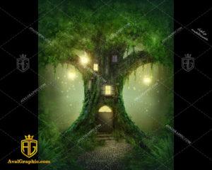 عکس با کیفیت خانه درختی سبز مناسب برای طراحی و چاپ - عکس خانه - تصویر خانه - شاتر استوک خانه - شاتراستوک خانه