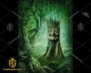 عکس با کیفیت صورتک درختی مناسب برای طراحی و چاپ - عکس صورتک - تصویر صورتک - شاتر استوک صورتک - شاتراستوک صورتک